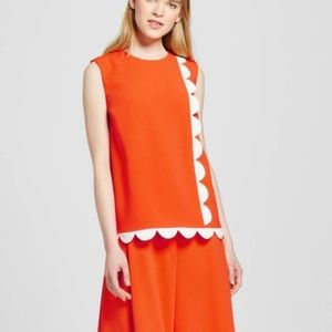 NEW Victoria Beckham for Target Scallop Tank Top